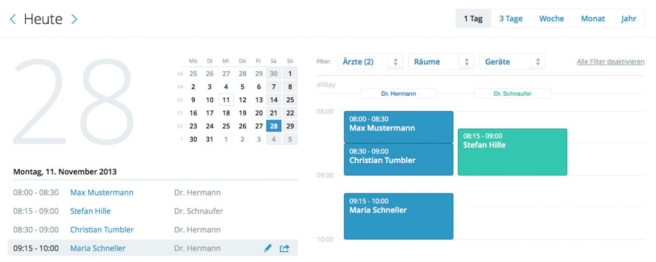 Einfache Terminverwaltung mit unserem Online-Kalender