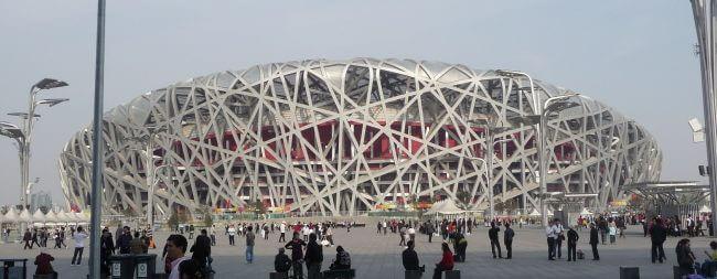 """Das Nationalstadion in Peking: """"Vogelnest"""""""