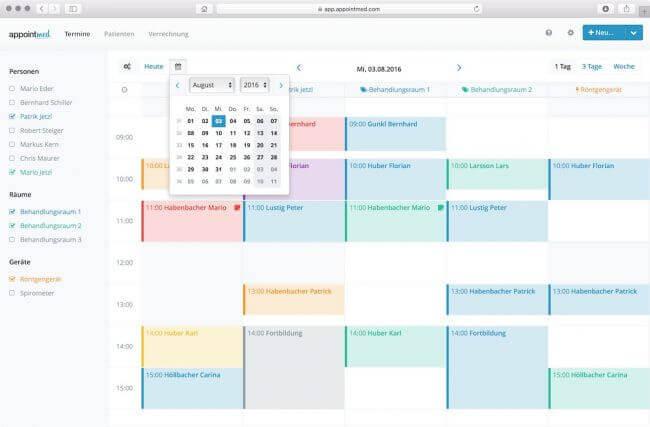 Der appointmed Terminkalender
