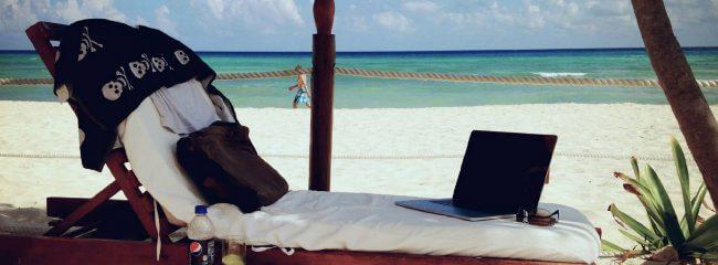 """Patriks """"Büro"""" unter Palmen in der Karibik – 2014"""