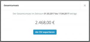 Umsatz von Rechnungen