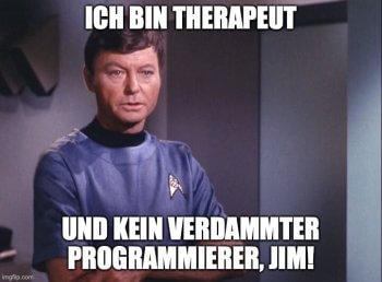 """Dr. McCoy von """"Raumschiff Enterprise"""""""