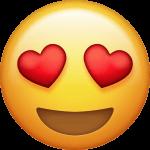 Emoji mit Herzchenaugen