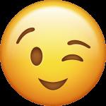 Zwinkerndes Emoji