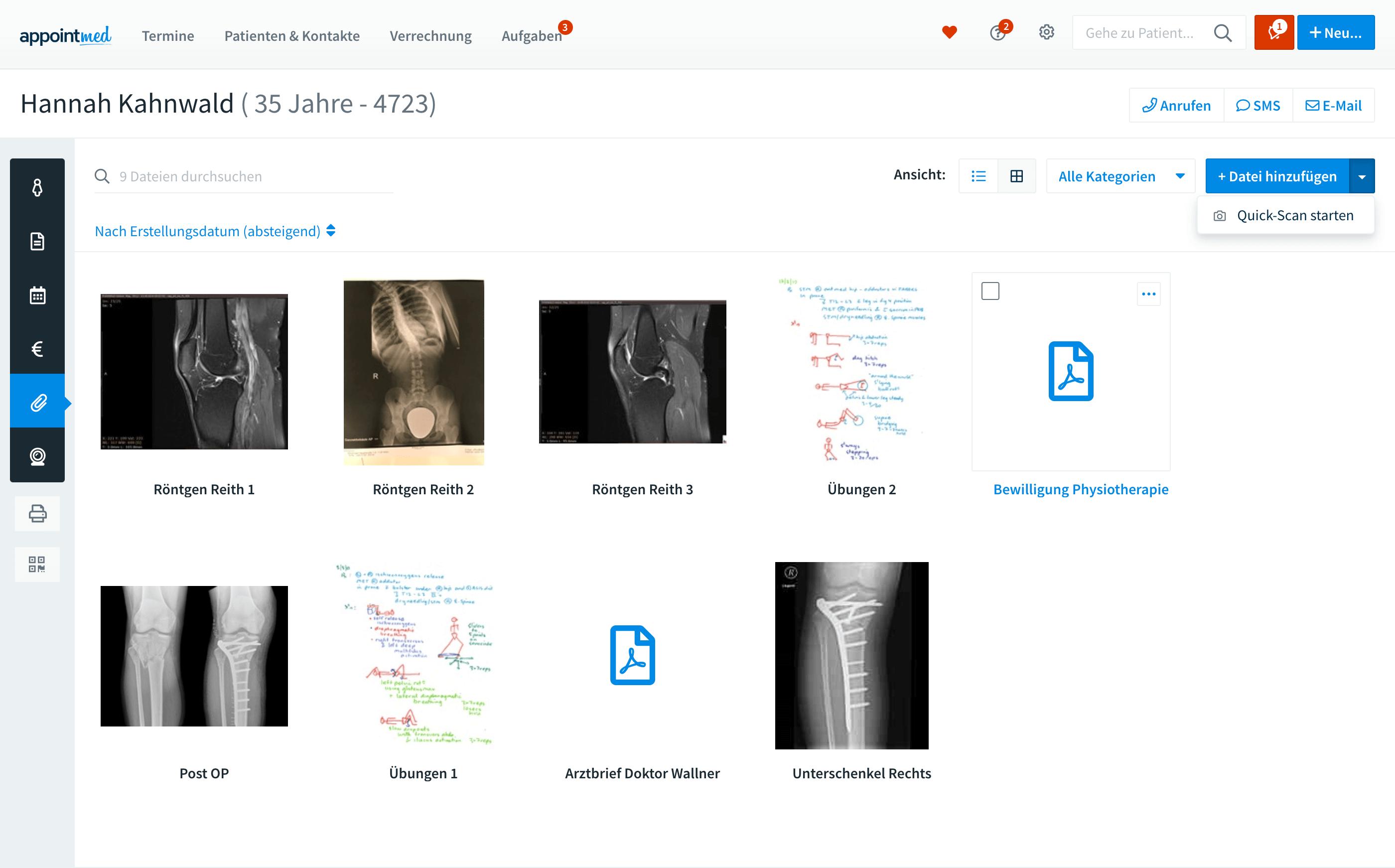 Dateien und Befunde in der Patientenakte