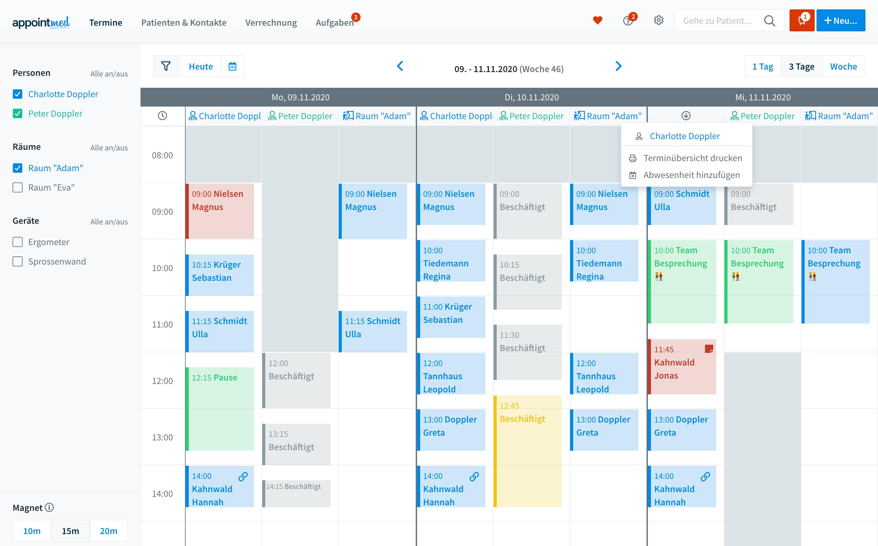 Der Appointmed-Kalender - Übersichtlich und flexibel