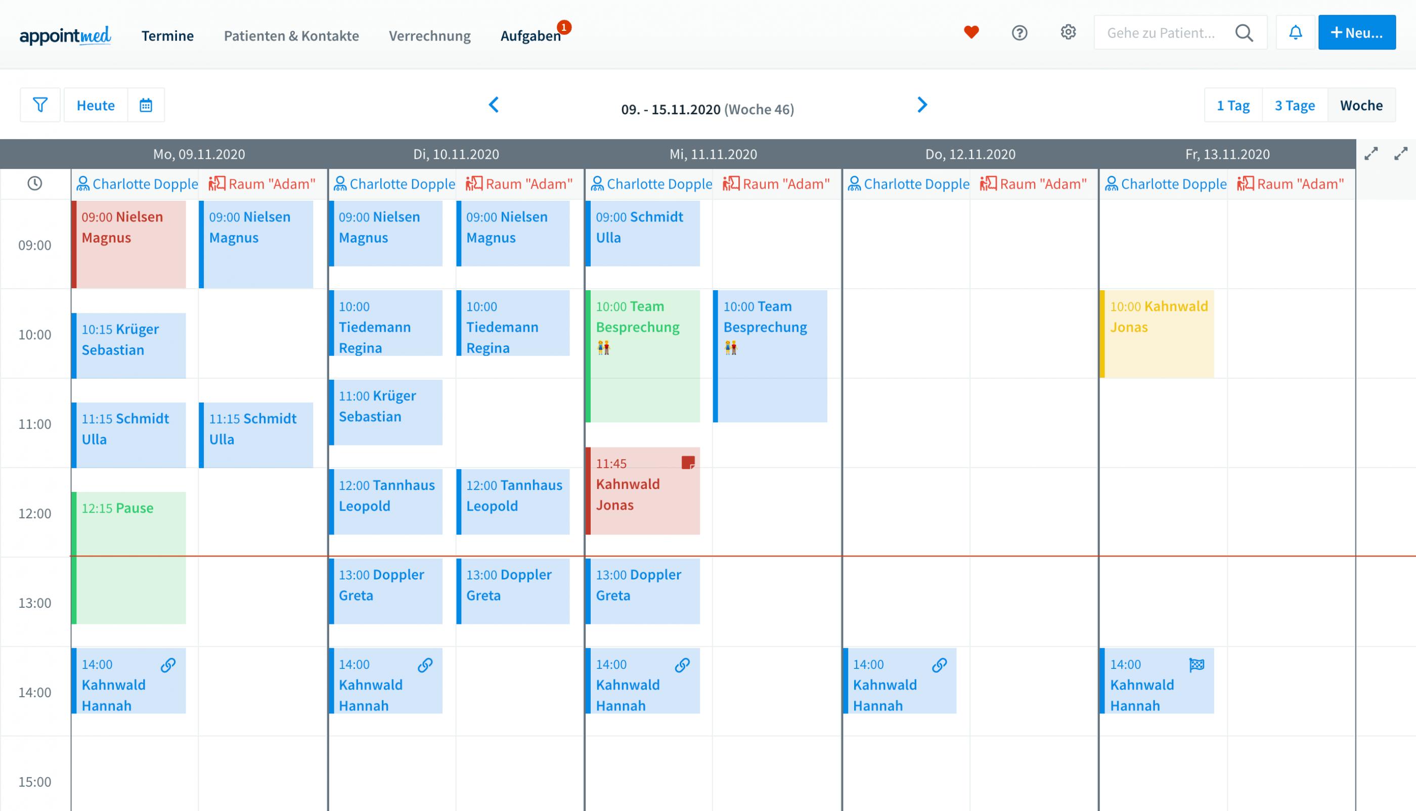 Terminkalender für Heilpraktiker.