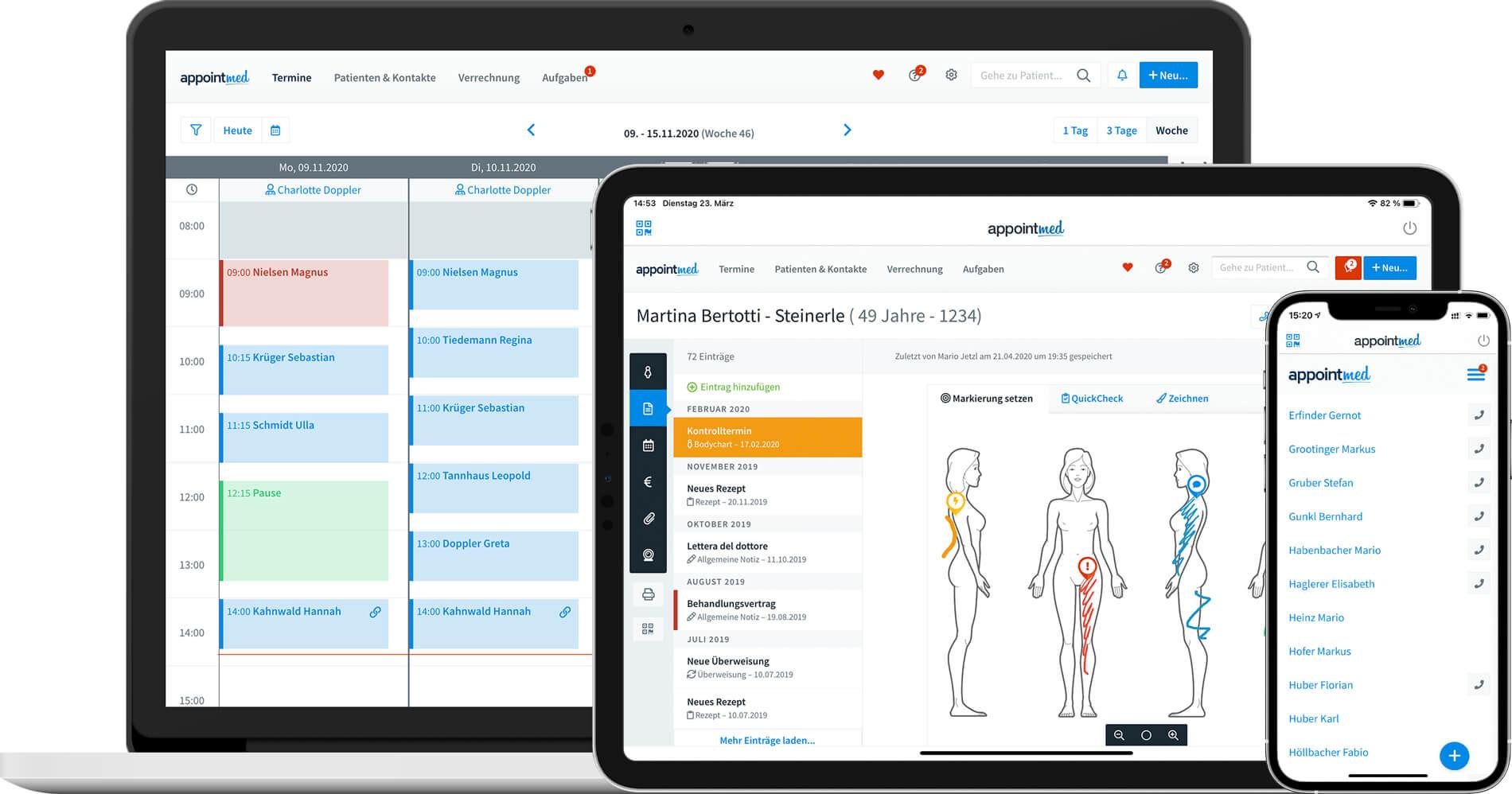 Praxissoftware für Heilpraktiker - appointmed
