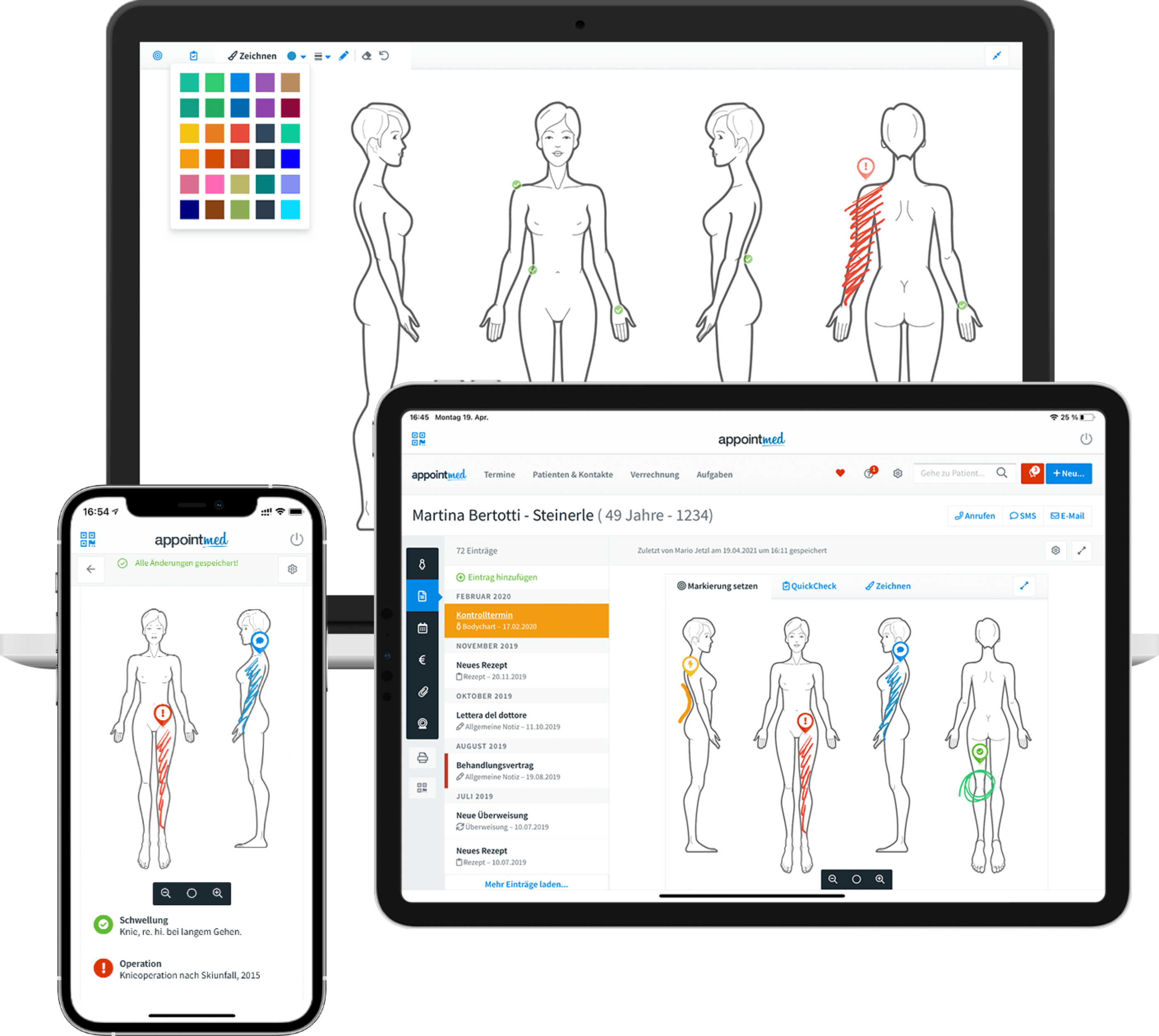 appointmed - Mobile Physio App für Tablets und Smartphones
